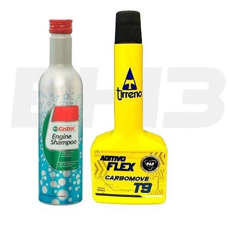 Shampoo Engine Castrol + Aditivo Carro Carbomove T9m Tirreno