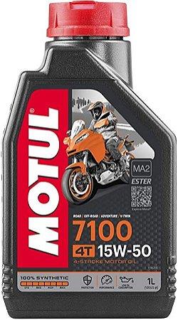 Óleo Lubrificante Motul 7100 15w50 4t 100% Sintético 1 Litro