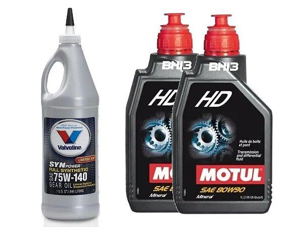 Valvoline 75W140 Motul 80W90 HD Diferencial Fusion e Edge AWD