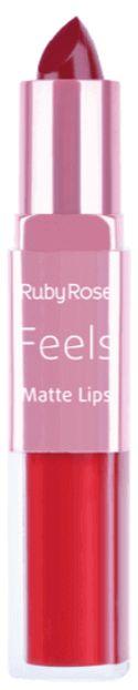 Batom Duo Matt Lips Feels 312 Ruby Rose