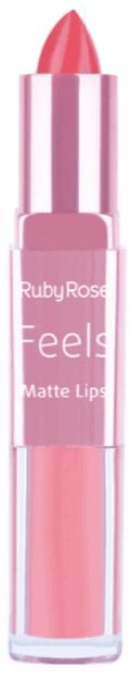 Batom Duo Matt Lips Feels 302 Ruby Rose