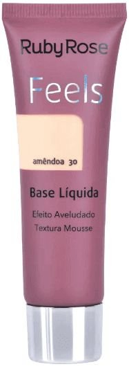 Base Feels Aveludado Amendoa Ruby Rose