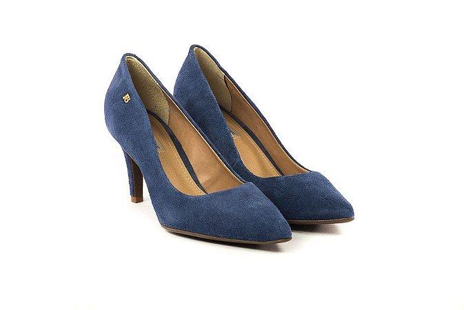 d78255722 Scarpin Azul Raphaella Booz - Outlet da Mariazinha