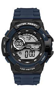 Relógio Mormaii Masculino Wave Preto e Azul- MO3660AF/8A