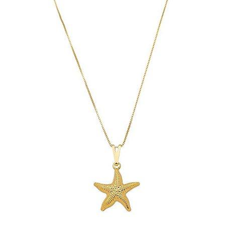 Colar estrela do mar banhado em banhado em ouro 18k
