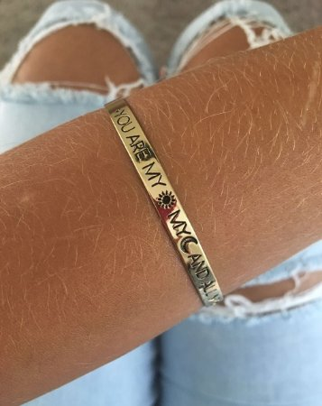 "Bracelete ""YOU ARE MY SUN, MY MOON, AND ALL MY STARS"""