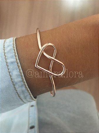 Bracelete Coração Nó (ROSE)