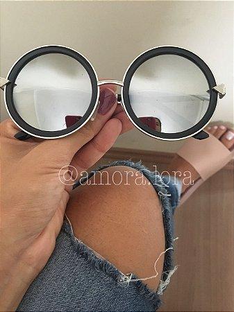 Óculos de Sol Redondo Espelhado Teodora