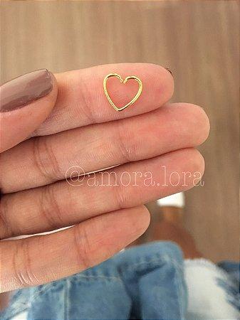 Piercing de Furo Coração Dourado