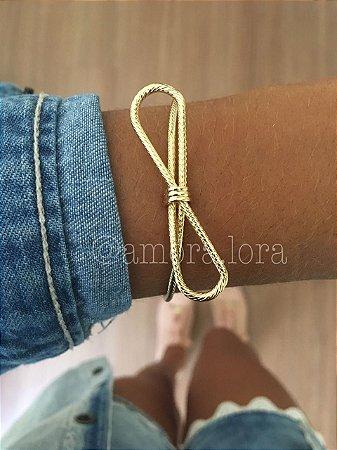 Bracelete Enroladinho Laço (Dourado)