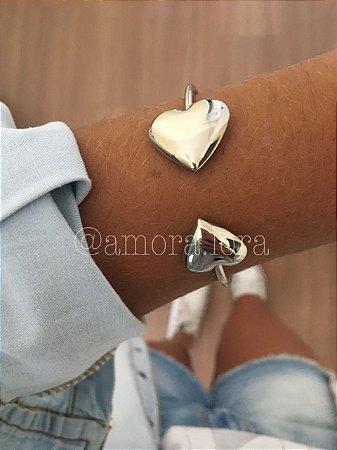 Bracelete Coração Duplo