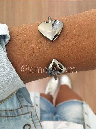 Bracelete Coração Duplo (Chumbo)