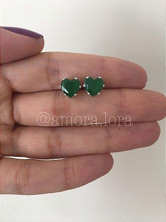 Brinco Coração Verde