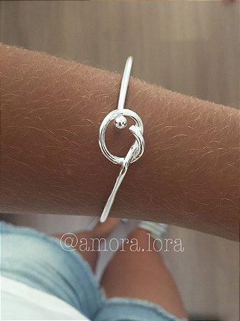 Bracelete Nó - Banho de Prata - Ref.97