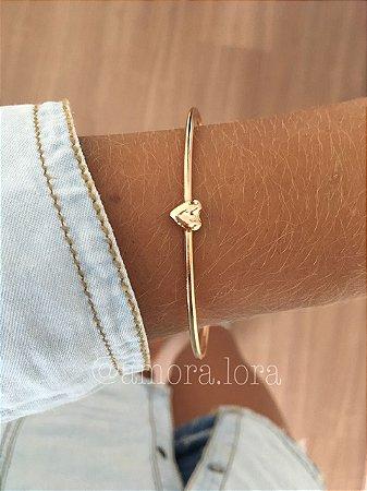 Bracelete Coração Dourado  Ref.113