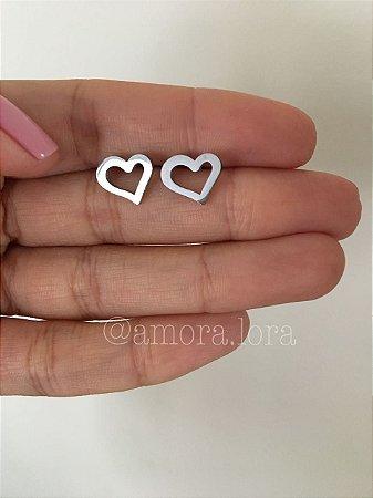 Brinco Coração - Aço Inoxidável - Ref.288