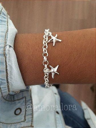 Pulseira Estrela do Mar - Banho de Prata - Ref.443