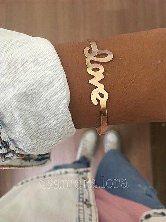 Bracelete Love Dourado Ref.795