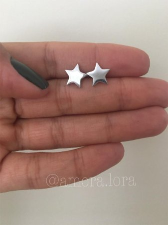 BrincoEstrela - Aço Inoxidável - Ref.796