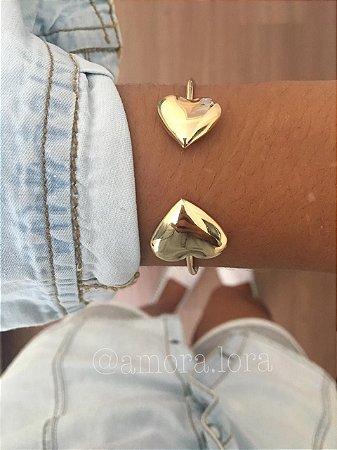Bracelete Coração Dourado Ref.806