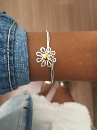 Bracelete Margarida - Banho de Prata - Ref.841