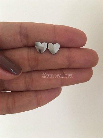 Brinco Coração - Aço Inoxidável - Ref.923