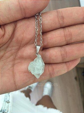 Colar Pedra Natural Cristal  Ref.932