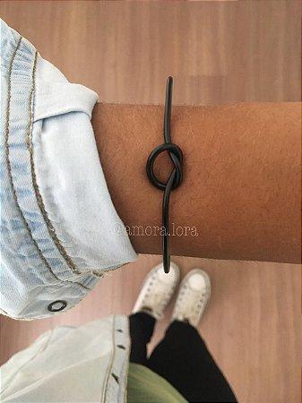 Bracelete Nó de Marinheiro Preto Ref.1116