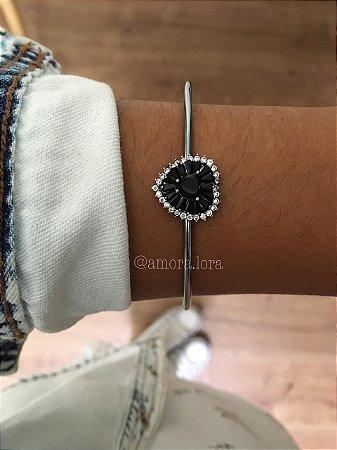 Bracelete Pedra Preta Ref.1335
