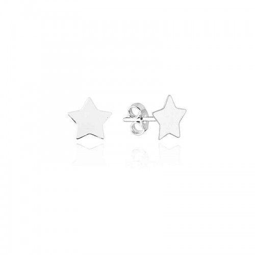 Brinco Estrela Sólido Prata 925 Ref. BR25