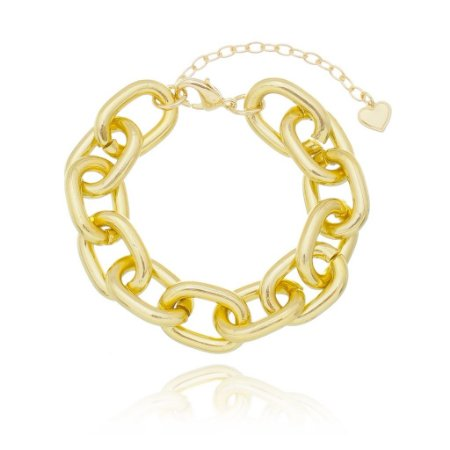 Pulseira elo cadeado dourado (30116)