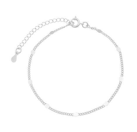 Pulseira trabalhada banhado em ouro 18k / prata / ródio branco (30122)