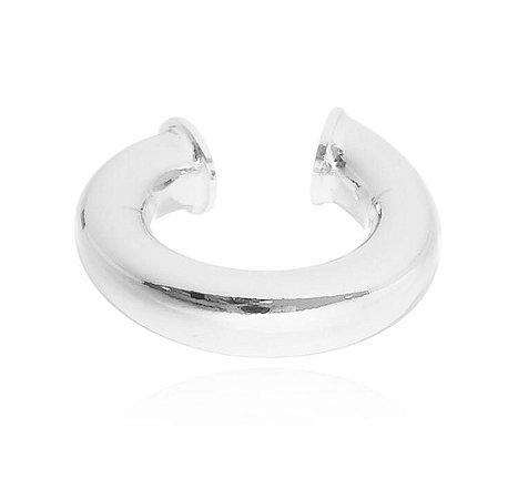 Piercing Liso Tubo Banhado em Prata ou Ródio Branco