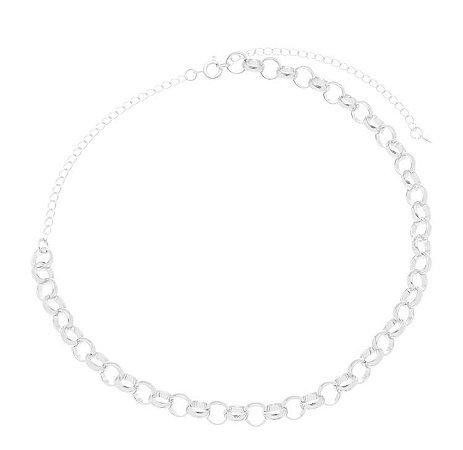 Colar elo redondo banhado em ouro 18k / prata / ródio branco (20142)