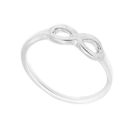 Anel Falange Infinito Banhado em Prata ou Ródio Branco