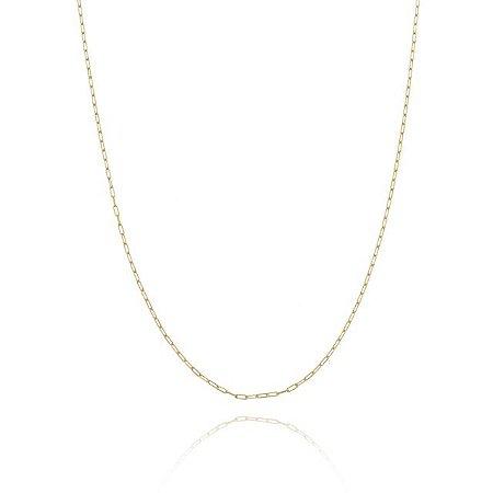 Corrente Longa 60cm fio 4 banhada em ouro 18k/prata/ródio branco