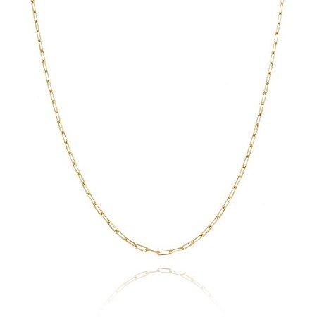 Corrente  50 cm fio 6 banhada em ouro 18k/prata/ródio branco