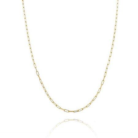 Corrente Cartier 60 cm fio 6 banhado em ouro 18k/prata/ródio branco