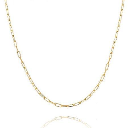 Corrente Cartier 70 cm fio 8 banhada em ouro 18k/prata/ródio branco