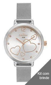 Relógio Condor Feminino Prata- CO2035MYIK4K