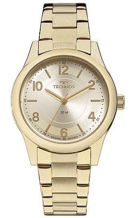 Relógio Technos feminino dourado- 2035MFTS4X