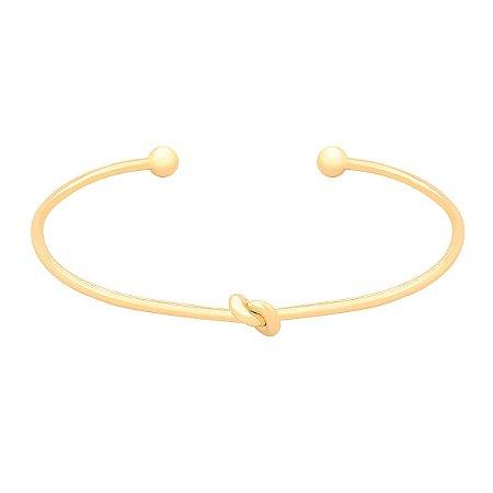 Bracelete Nó Banhado a Ouro 18k