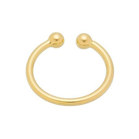 Piercing Bolinha Banhado em Ouro 18k