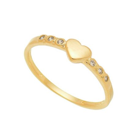 Anel Coração com Zircônias Banhado em Ouro 18k