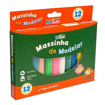 MASSA DE MODELAR CX COM 12 CORES