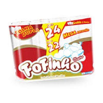 PAPEL HIGIÊNICO FOFINHO FOLHA DUPLA NEUTRO 30M PCT C/24ROLOS
