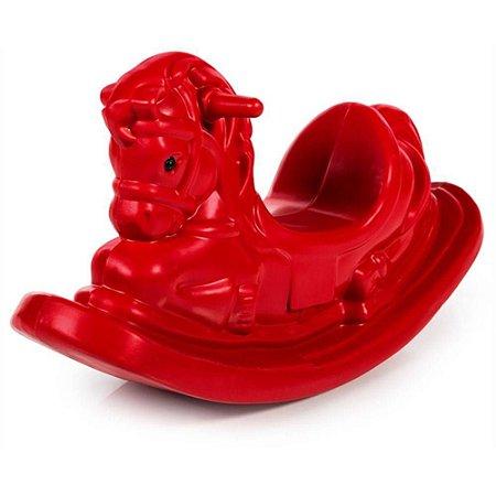 Gangorra Cavalinho Infantil Para Crianças E Bebês - Vermelha