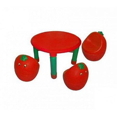 Conjunto Mesa Fruta Morango