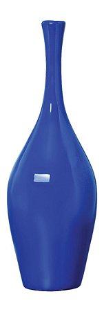 Vaso Garrafa de Cerâmica  Azul 13,5x39cm