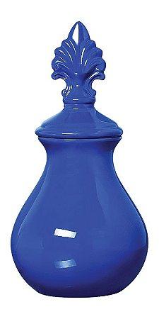Vaso Pote de Cerâmica Azul 18X36CM